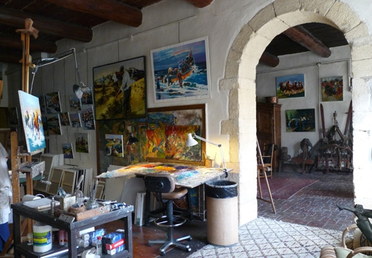 Studio exhibition artistic painter christian jequel in - Atelier artiste peintre ...