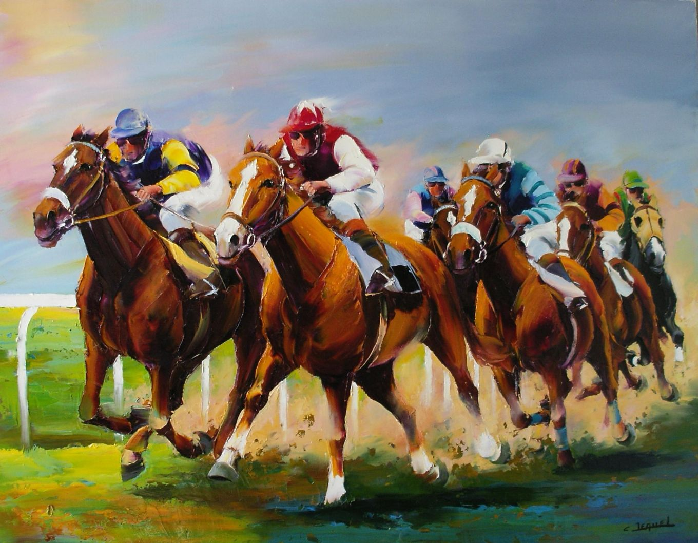 Course au galop (le virage)