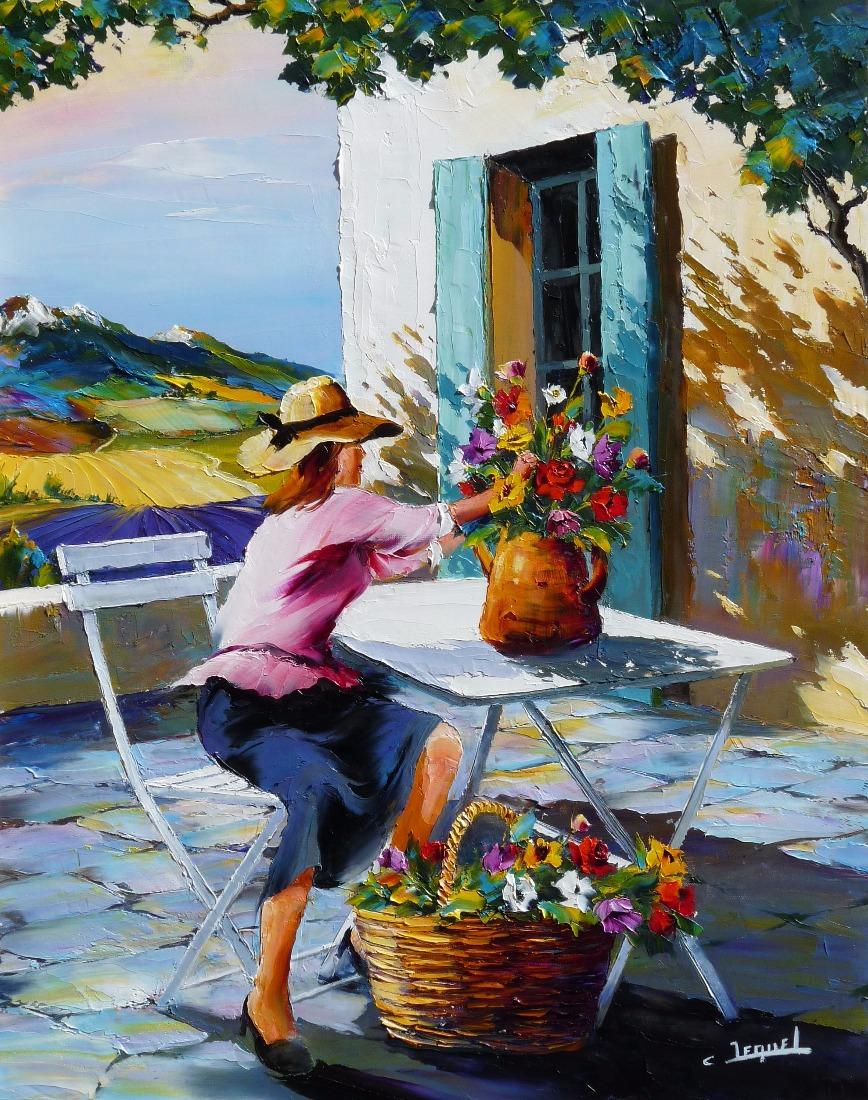 Galerie tableaux Artiste peintre des fleurs Christian