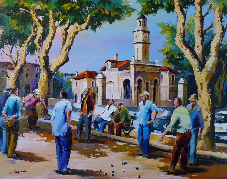 Galerie tableaux artiste peintre des jeux de boules christian jequel peinture au couteau - Cote d un artiste peintre ...