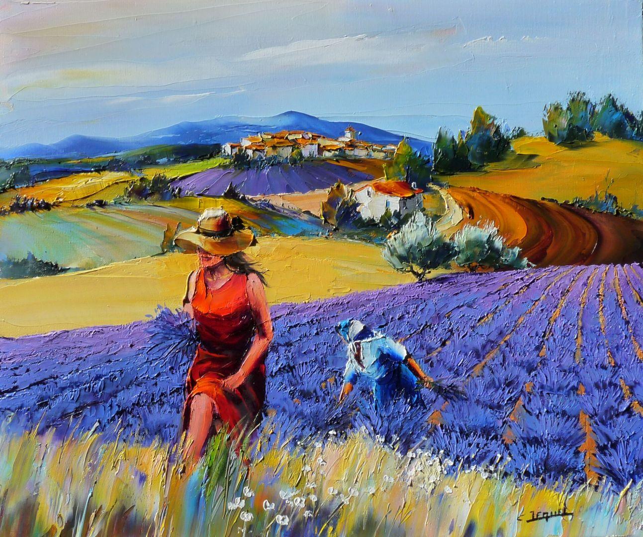 Galerie tableaux artiste peintre des lavandes christian - Peindre sur de la peinture brillante ...