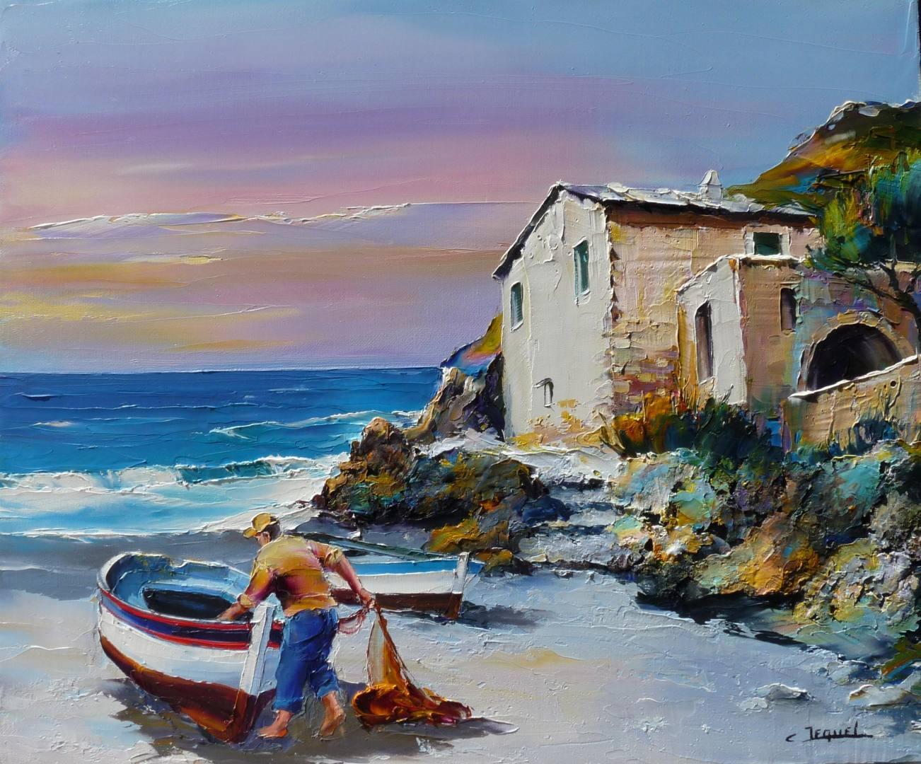 Extremement Galerie tableaux Artiste peintre des marines Christian Jequel CC-71