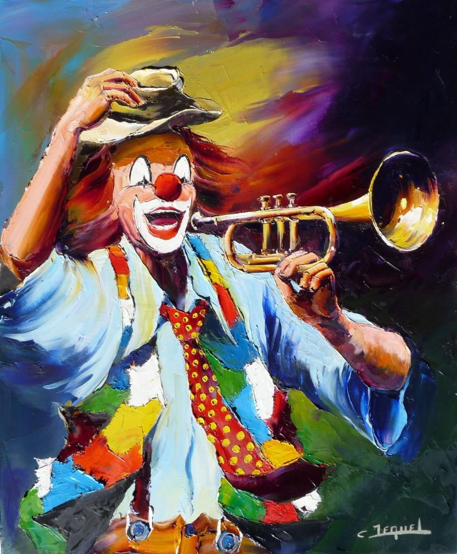 clown and trumpet